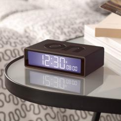 Funkgesteuerter umschaltbarer LCD-Wecker FLIP+